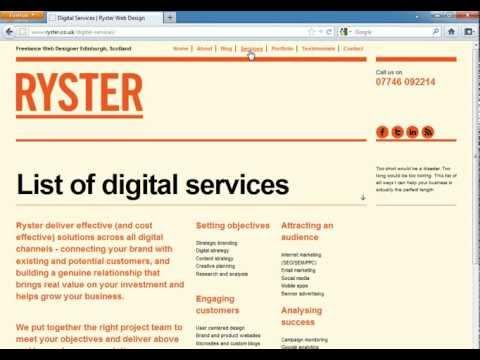 Ryster Promotional Video - Web Design Edinburgh