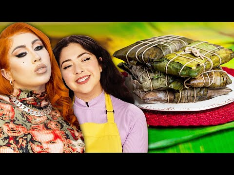 "Can We Make More Hallacas Than A Professional Chef"" Ft. Kali Uchis ? Tasty"