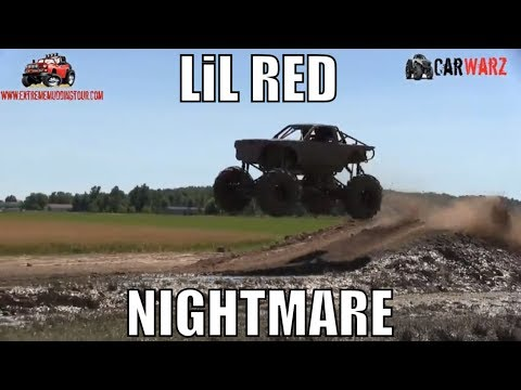 LITTLE RED NIGHTMARE Testing The Jumps At Red Barn Customs Mud Bog 2018