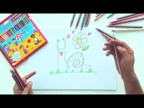 How to draw a snail (STABILO Tutorials, drawing beginners)
