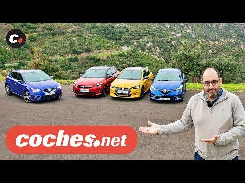 Comparativa Compactos B 2020: Seat Ibiza, Opel Corsa, Peugeot 208, Renault Clio | Prueba coches.net