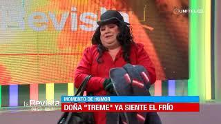 Humor: Doña 'Treme' molesta por las bajas temperaturas en Cochabamba