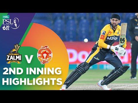 2nd Inning Highlights | Peshawar Zalmi vs Islamabad United | Match 10 | HBL PSL 6 | MG2T