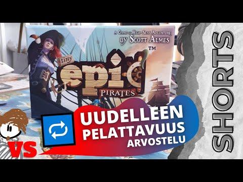 Kyllästyykö piraattipeliin nopeasti?   ANTON VS TINY EPIC PIRATES -LAUTAPELI #SHORTS