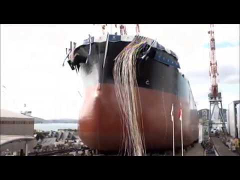 常石造船 進水式 「カムサマックス バルカー:KAMSARMAX」(2020/1/30):Launching Ceremony