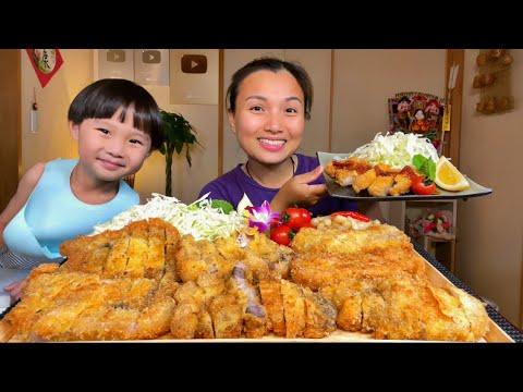 Cắt cây bắp cải làm món thịt chiên xù Tonkastu kiểu Nhật ta nói ngon quá xá #938