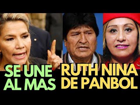 RUTH NINA DE PAN BOL ERA ÍNTIMA AMIGA DE JEANINE AÑEZ; AHORA SE UNE AL MAS Y LE DA TODO SU APOYO..