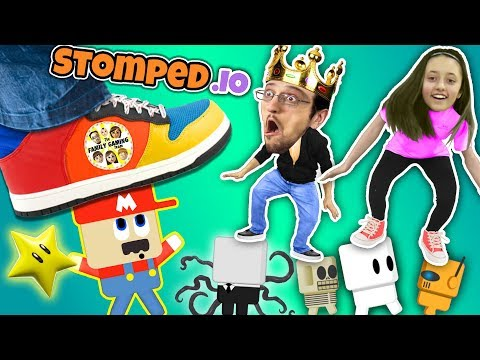 connectYoutube - FGTEEV STOMPS on LITTLE PEOPLE! Super Mario Wario King! Daddy Daughter Destruction Duo in STOMPED.io