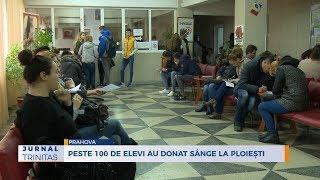Peste 100 de elevi au donat sange la Ploiesti