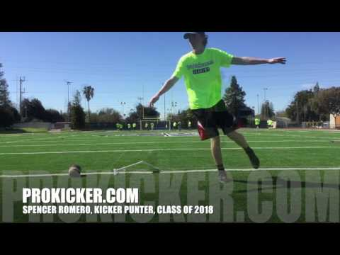 Spencer Romero, Kicker Punter, Class of 2018