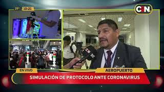 Realizan simulación ante detección de coronavirus en el país