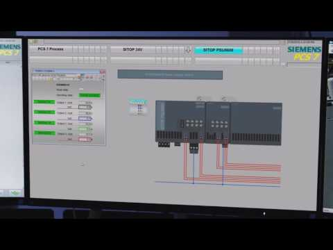 Modular power supply system with profinet