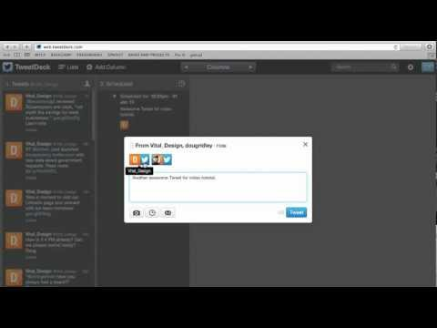 How do you schedule Tweets on TweetDeck