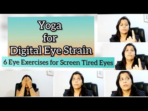 Yoga for Digital Eye strain | 6 Eye Exercises for Screen Tired Eyes