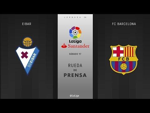 Rueda de prensa Eibar vs FC Barcelona