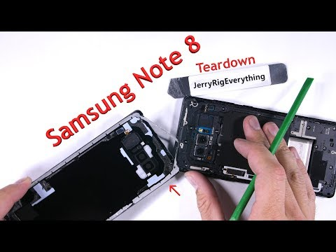 Note 8 Teardown - Screen Replacement, Battery swap
