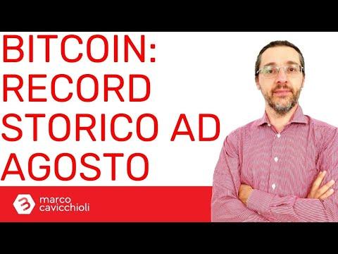 Bitcoin: record DI SEMPRE ad agosto per il prezzo minimo mensile!