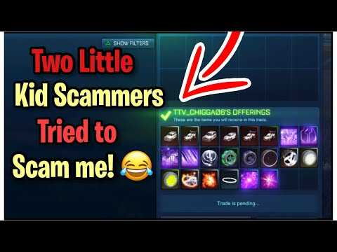 Two Little Kid Scammers Tried to Scam me! (Scammer Gets Scammed) Rocket League