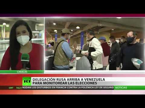 Delegación rusa arriba a Venezuela para monitorear las elecciones