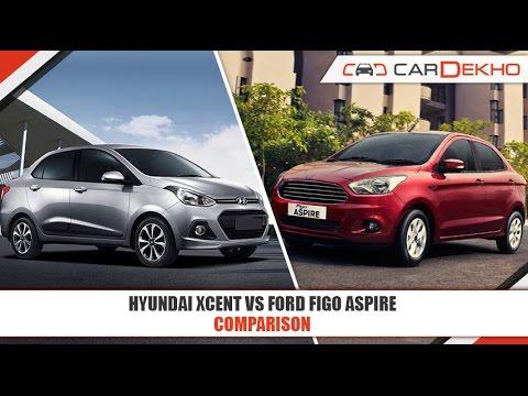 Hyundai Xcent VS Ford Figo Aspire | Comparison Video | CarDekho.com
