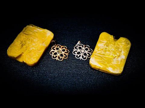 Изготовление копии золотого кулона с бриллиантом #MatsonJewellery photo
