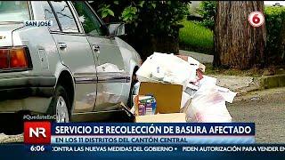 Servicio de recolección de basura en San José afectado por aumento de casos Covid