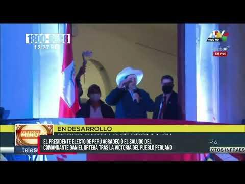 Pedro Castillo, presidente electo de Perú, agradece saludo del Gobierno de Nicaragua