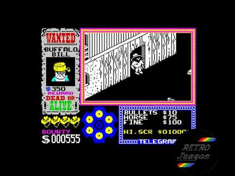 Gunfright para ZX Spectrum - Review de RETROJuegos de Fabio Didone