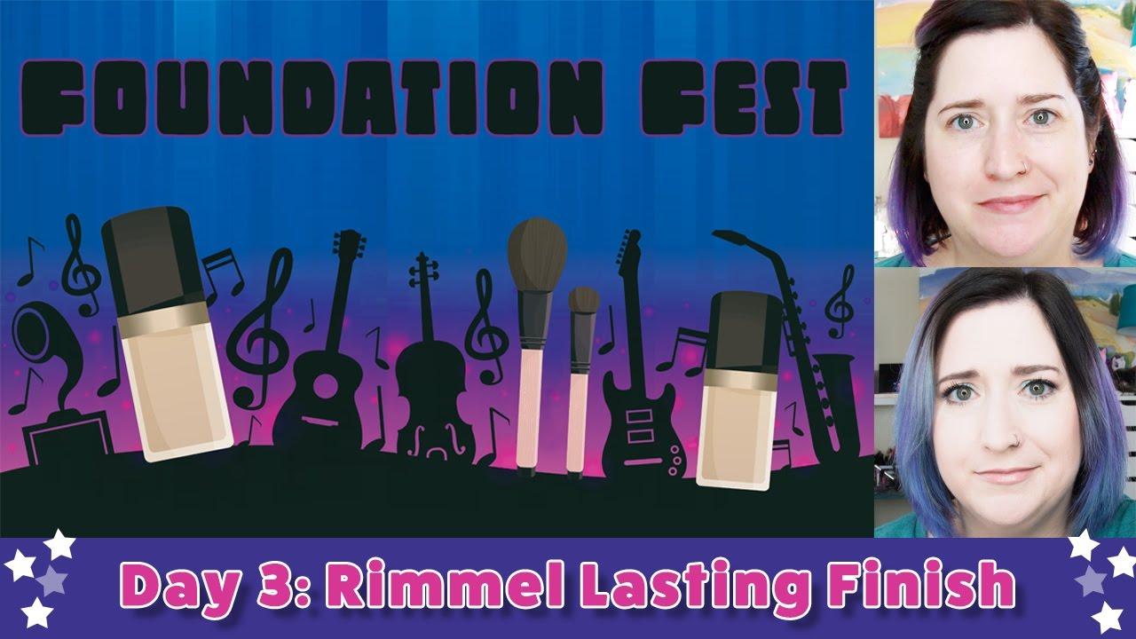 FOUNDATION FEST Rimmel Lasting Finish | 5 Days, 5 Foundations