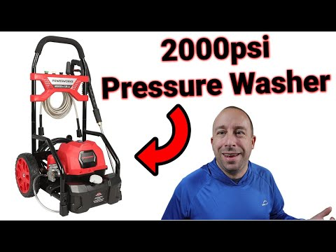 Powerworks 2000psi Pressure Washer Overview, Assembly, and Demo