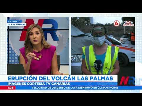 Continúa erupción del volcán Las Palmas en Islas Canarias
