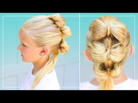 Triple Bow Hawk | Back to School Hairstyle