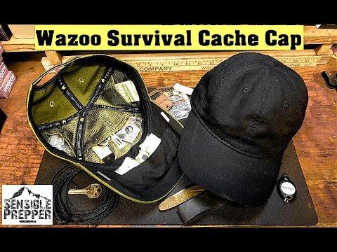 Wazoo Survival Cache Cap : Spy Stuff