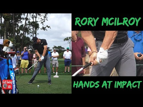 2018 RORY MCILROY HANDS AT IMPACT DRIVER GOLF SWING 1080 HD