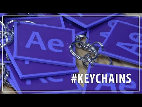 After Effects Keychains // 3D Printing Dual Color Fusion 360 Keychains / Matterhackers / Prusa
