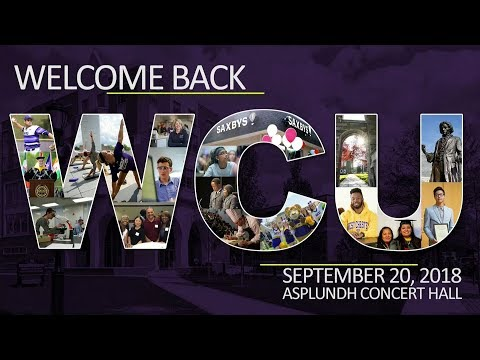 Welcome Back WCU 2018