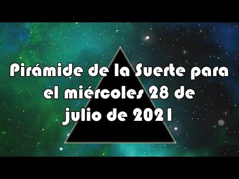 Lotería de Panamá - Pirámide para el miércoles 28 de julio de 2021