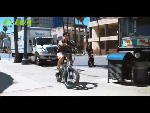 E-Lux Electric Bikes Sierra Folding E-Bike Around Town