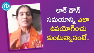 Amma Kondaveeti Jyothirmayee about her Daily Routine during Lock Down | Dil Se With Anjali - IDREAMMOVIES