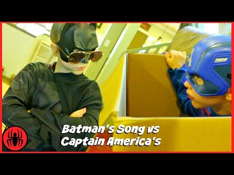Batman Song vs Captain  Poster