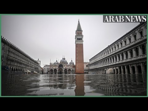 Venice underwater as exceptional tide sweeps through canal city
