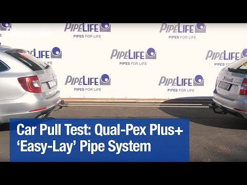 Car Pull Test with Qual-Pex Plus+ 'Easy-Lay' Pipe