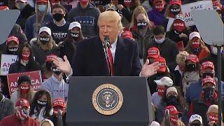 Trump insists US is 'rounding the turn' on coronavirus | US Election 2020