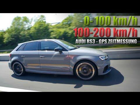 Audi RS3 Sportback Beschleunigung 100-200km/h und 0-100 km/h (Deutsch/German)