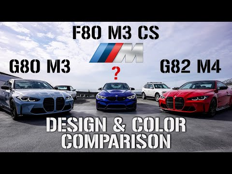 BMW G80 M3 & G82 M4 VS. F80 M3 CS | 4K DESIGN & COLOR COMPARISON