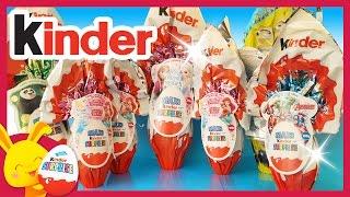 Compilation de Maxi oeufs surprises Kinder - Reine des neiges - Princesses Disney - Touni toys