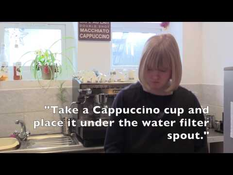 Using an app to make a cappuccino #inclusivetechnology