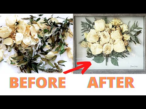 HOW TO DRY FLOWERS WEDDING BOUQUET EASY DIY