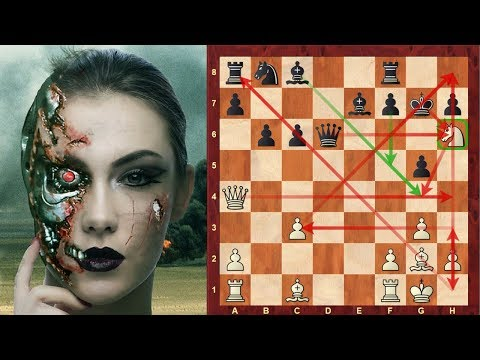 Outrageous Chess AI: DeepMind's AlphaZero's most outrageous Queen moves from another dimension game!