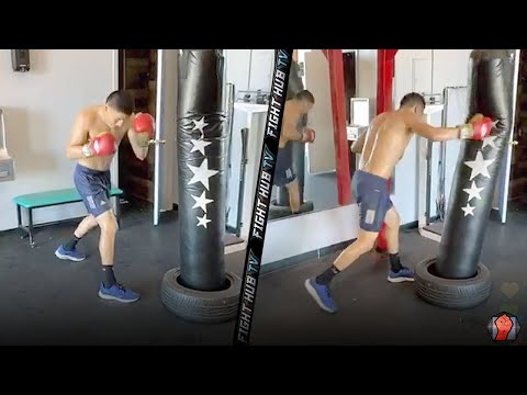 VERGIL ORTIZ DENTING UP HEAVY BAG DURING WORKOUT AS NEXT FIGHT LOOMS!